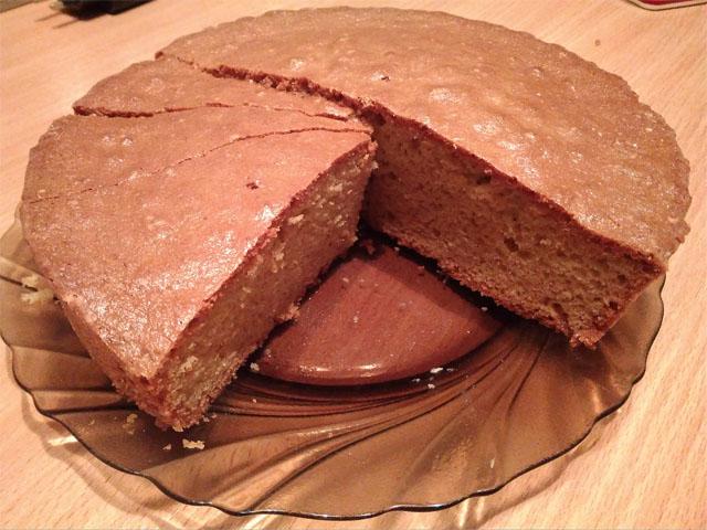 Бисквитный пирог на майонезе
